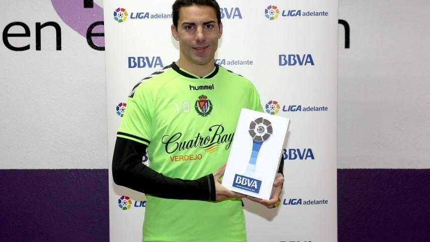 Premios BBVA: Óscar González, mejor jugador de la Liga Adelante en diciembre
