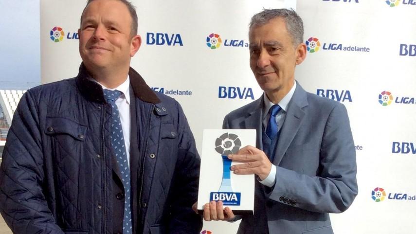 Premios BBVA: Carlos Terrazas, mejor entrenador de la Liga Adelante en diciembre