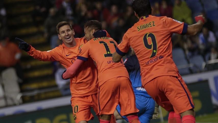 Messi deslumbra en la victoria ante el Deportivo