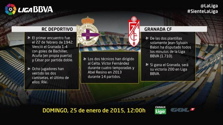 Duelo de urgencias entre Deportivo y Granada