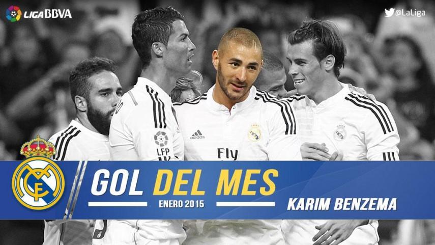 Benzema firmó el mejor gol de la Liga BBVA en enero
