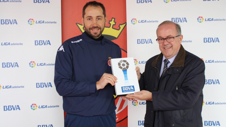 BBVA Awards: Pablo Machín, Liga Adelante manager of the month for January