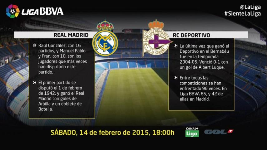 El Santiago Bernabéu recibe a un Deportivo en alza
