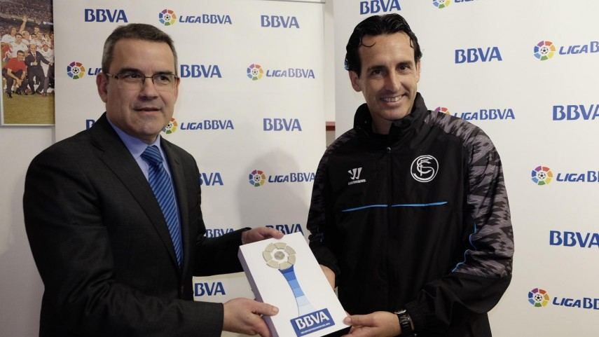 Unai Emery, Liga BBVA manager of the month for January