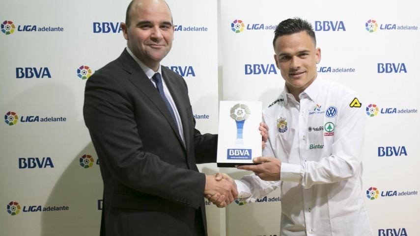 Premios BBVA: Roque Mesa, mejor jugador de la Liga Adelante en enero
