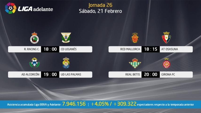 Las Palmas y Girona se juegan el liderato en la Liga Adelante