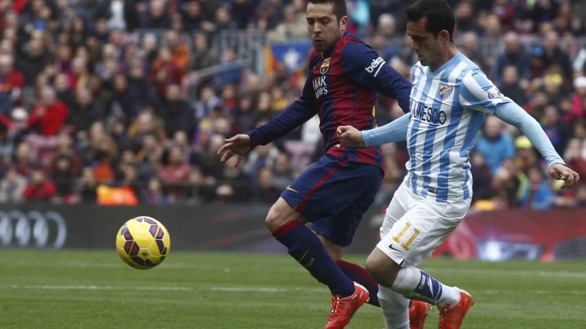 El Málaga conquista el Camp Nou