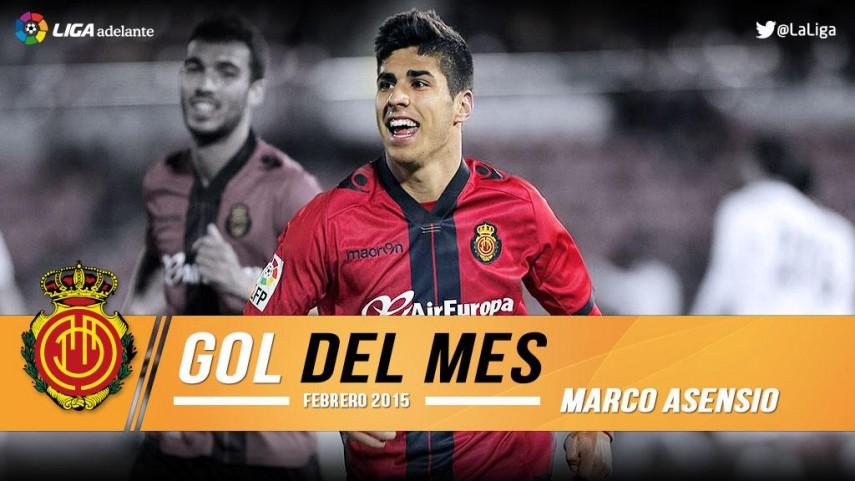Asensio marcó el mejor gol del mes de febrero en la Liga Adelante