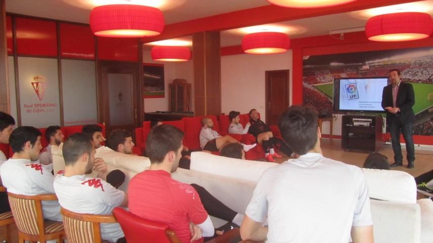 El Curso de Integridad de la LFP visita al Sporting