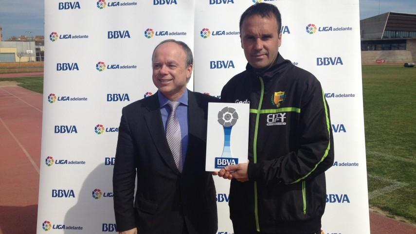 Premio BBVA: Lluís Carrillo, mejor entrenador de la Liga Adelante en febrero