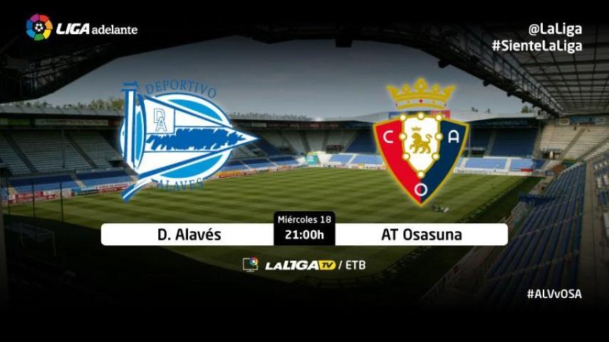 Alavés y Osasuna se citan en el partido aplazado de la jornada 24