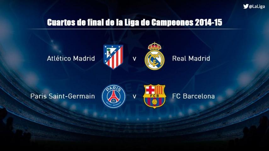 Habrá duelo español en cuartos de la Champions