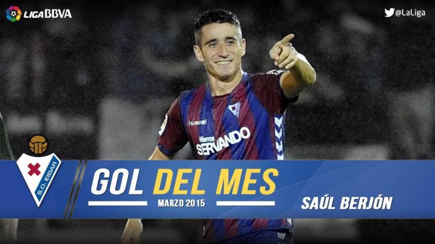 Saúl Berjón marcó el mejor gol de la Liga BBVA en marzo