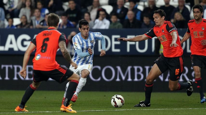 Málaga y Real Sociedad se reparten los puntos