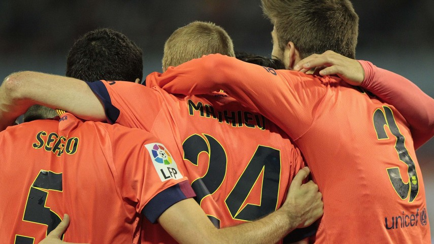 Mathieu ensures that FC Barcelona remain the Liga BBVA forerunners