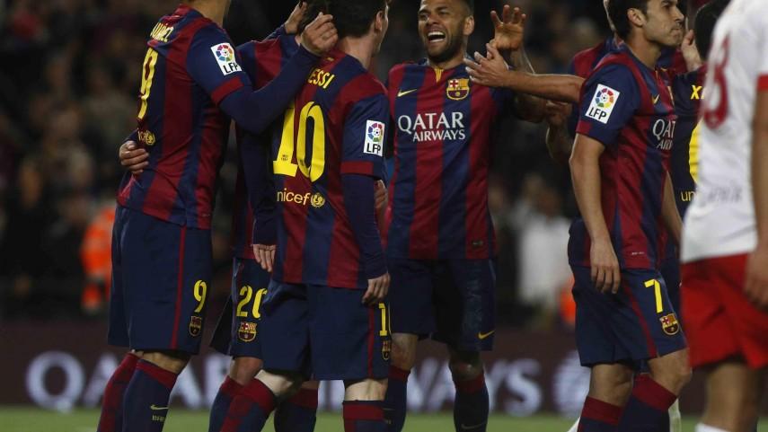 El FC Barcelona no frena ante el Almería