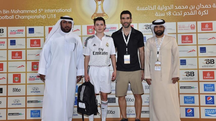 Álvaro Fidalgo, mejor jugador en el tercer día del Hamdan 5th International Football Championship