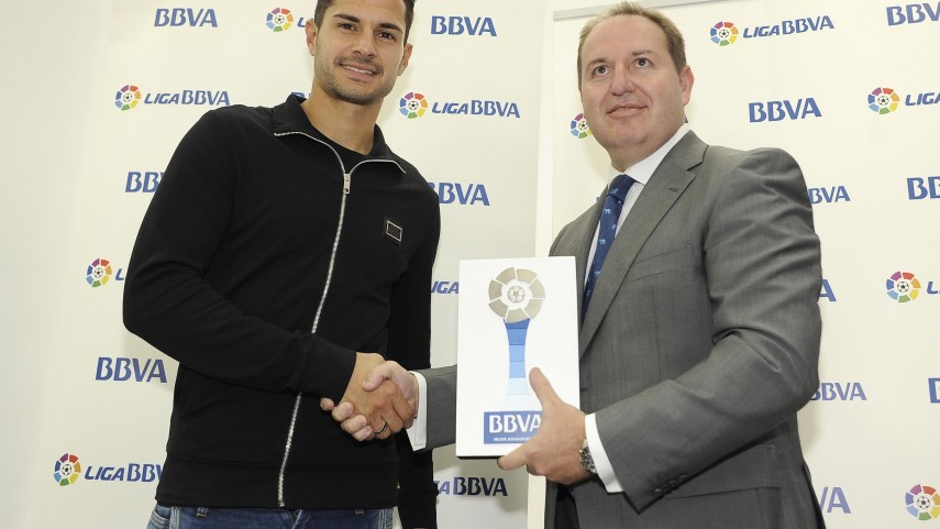 BBVA Prizes: Vitolo, best Liga BBVA player in March