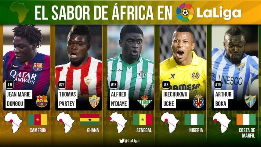 El sabor de África llena La Liga de color