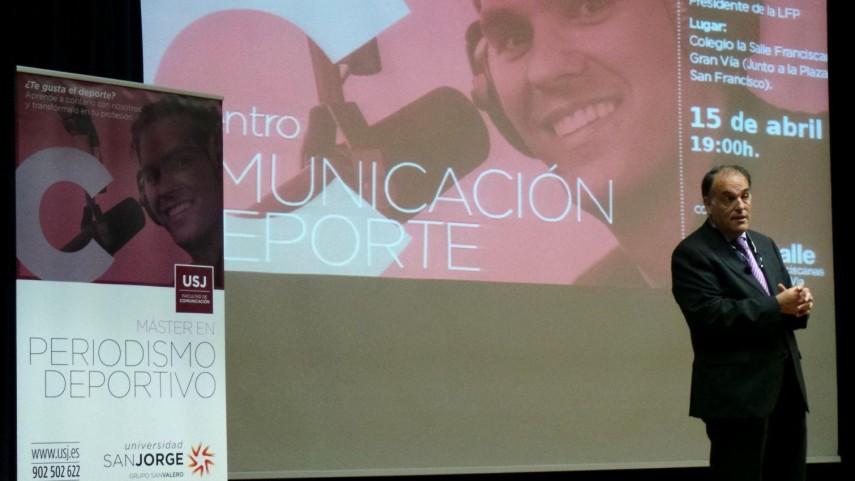 Javier Tebas analiza el rumbo y los retos del fútbol en el II Encuentro de Comunicación y Deporte