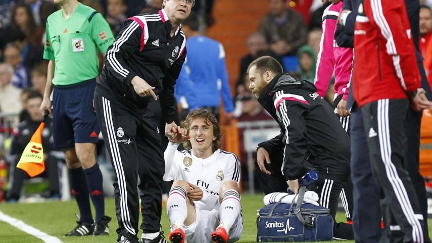 Luka Modrić sufre un esguince de rodilla