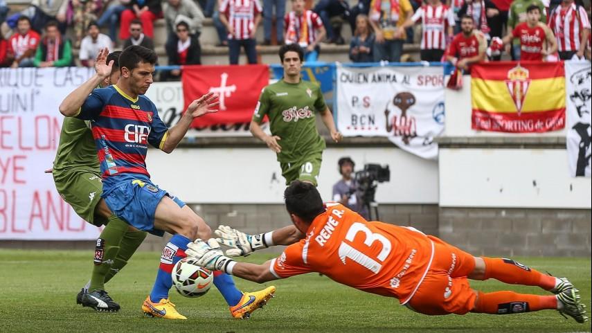 El Sporting no pudo con el fortín de Palamós