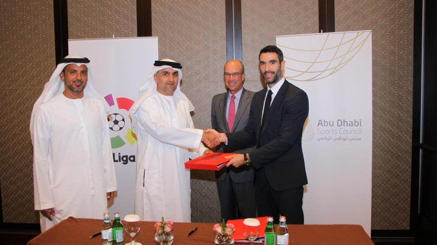 La Liga y el Abu Dhabi Sports Council firman un acuerdo de colaboración