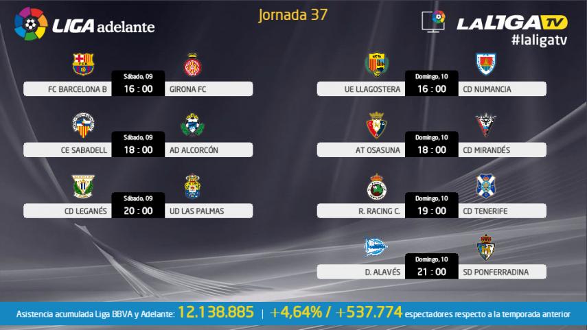 Disfruta del tramo decisivo de Liga Adelante con La Liga TV