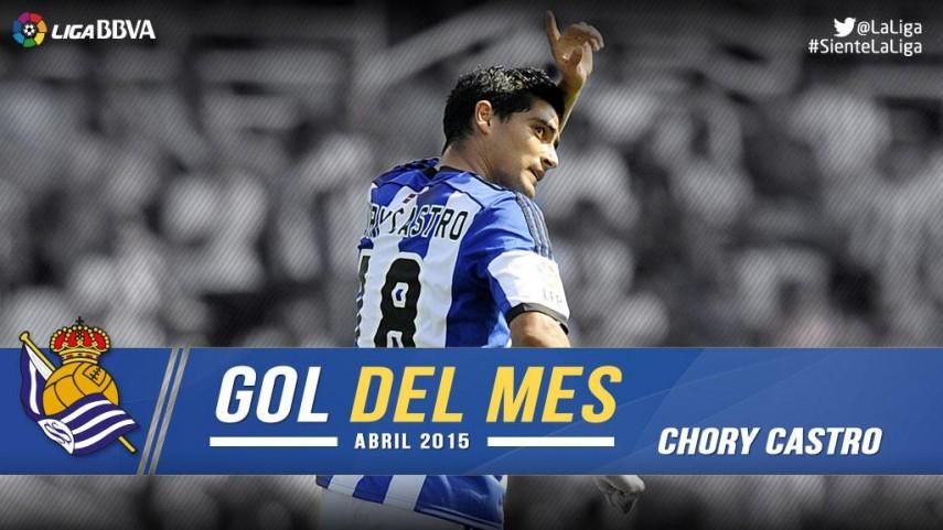 Chory Castro marcó el mejor gol de la Liga BBVA en abril