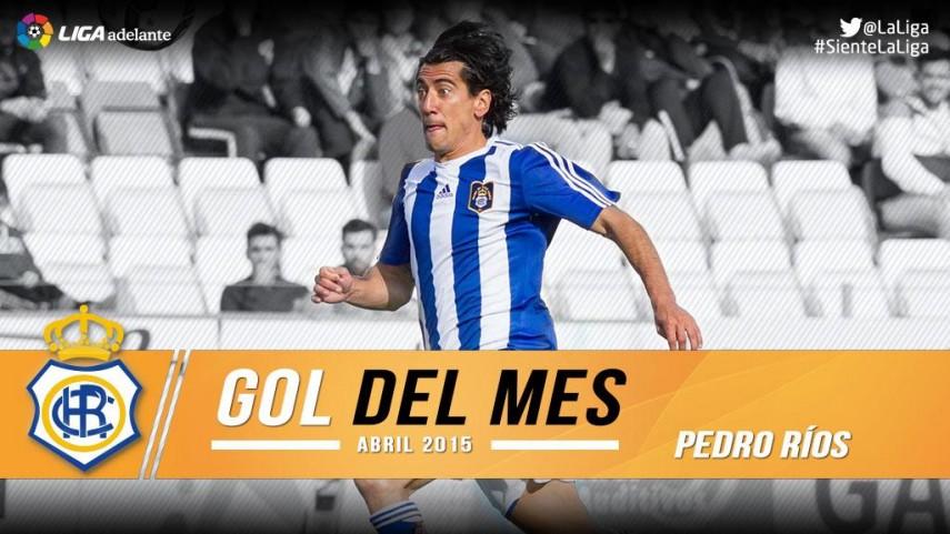 Pedro Ríos marcó el mejor gol de la Liga Adelante en abril