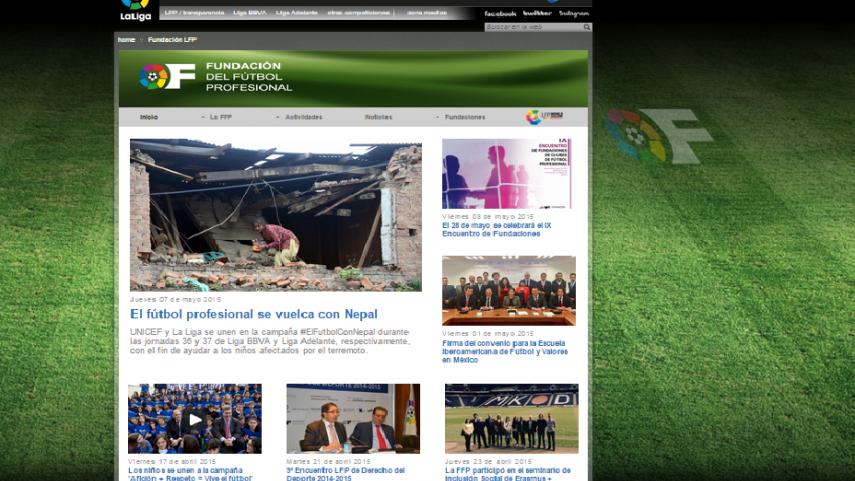 Nace la página web de la Fundación del Fútbol Profesional