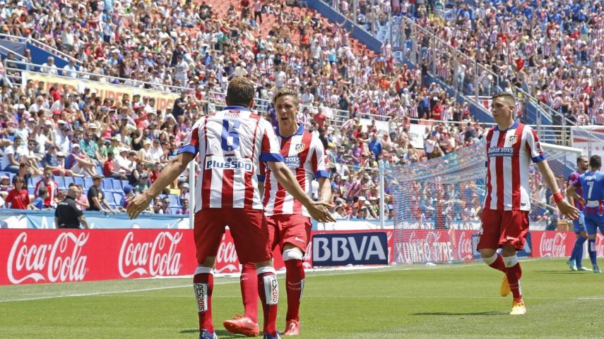El Atlético rescata un punto en el Ciutat de València