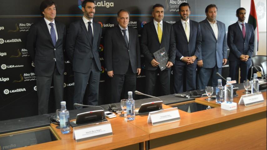 La Liga y el Abu Dhabi Sports Council, juntos por la internacionalización del fútbol español