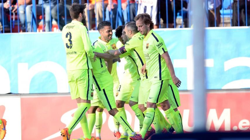 El FC Barcelona conquista la Liga BBVA en el Vicente Calderón