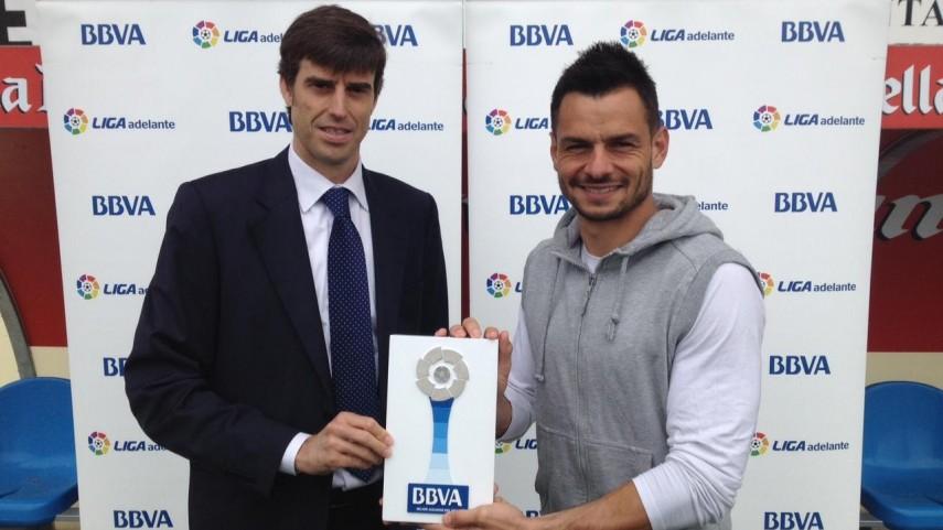 Premios BBVA: René, mejor jugador de la Liga Adelante en abril