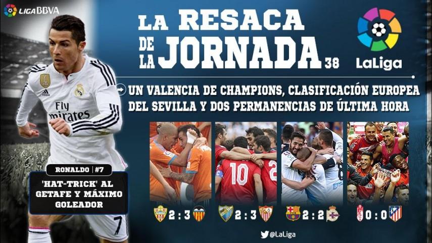 Un Valencia de Champions, gol de Iraola y dos permanencias de última hora