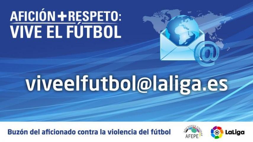 La Liga activa el buzón del aficionado para luchar contra la violencia en el fútbol