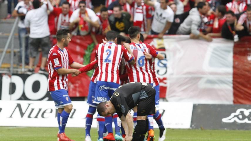 El Sporting cumple a costa de sentenciar al Sabadell