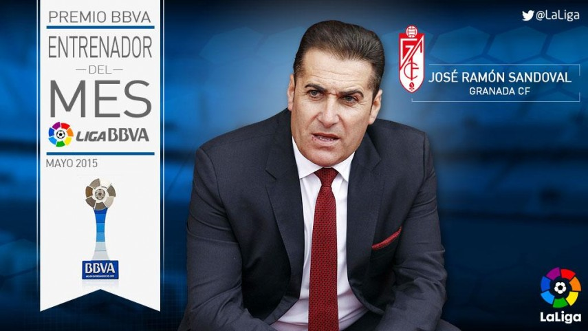 Premios BBVA: José Ramón Sandoval, mejor entrenador de la Liga BBVA en mayo