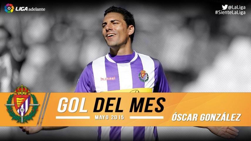 Óscar marcó el mejor gol del mes de mayo en la Liga Adelante