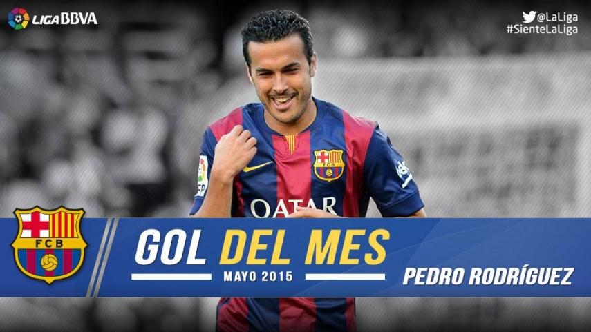 Pedro marcó el mejor gol de la Liga BBVA en mayo