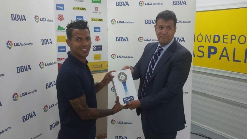 Premios BBVA: Jonathan Viera, mejor jugador de la Liga Adelante en mayo