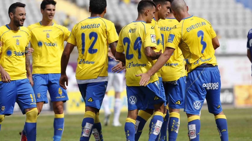 Triunfo sufrido de Las Palmas antes del play-off