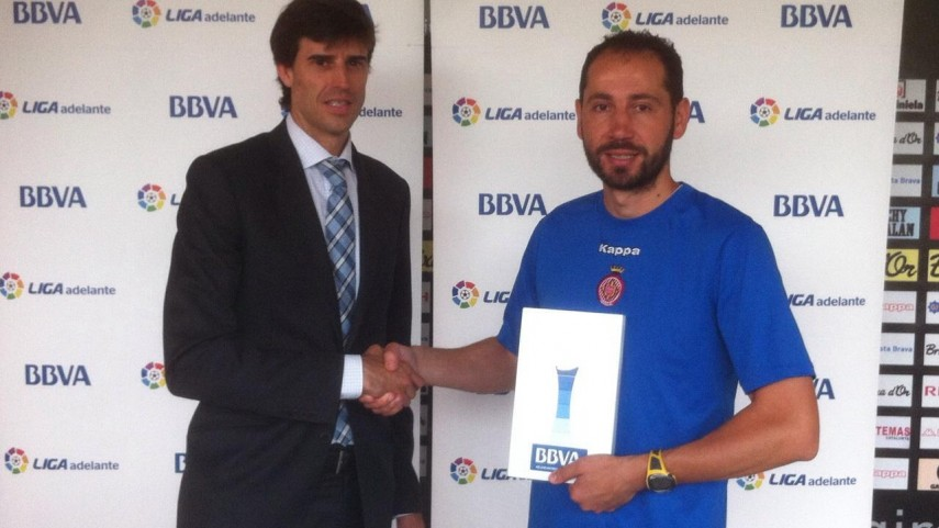 BBVA Awards: Pablo Machín, Liga Adelante coach of the month for May