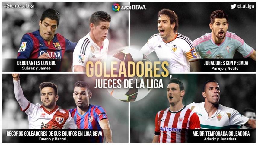Goleadores, jueces de la Liga BBVA