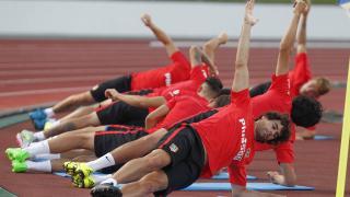 Fotogalería: Así fue el primer entrenamiento del Atlético en Japón