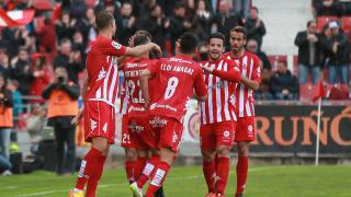 Why are the players from Girona called 'albirrojos'?