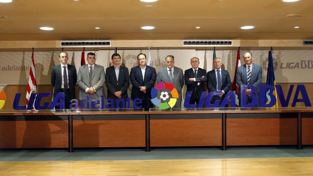 Javier Tebas da la bienvenida a los recién ascendidos: