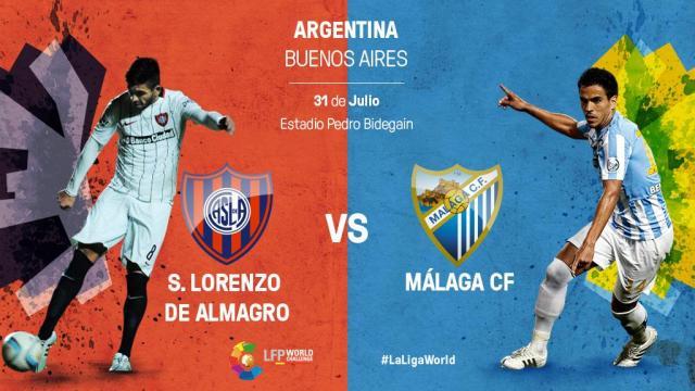El Málaga busca redimirse ante San Lorenzo