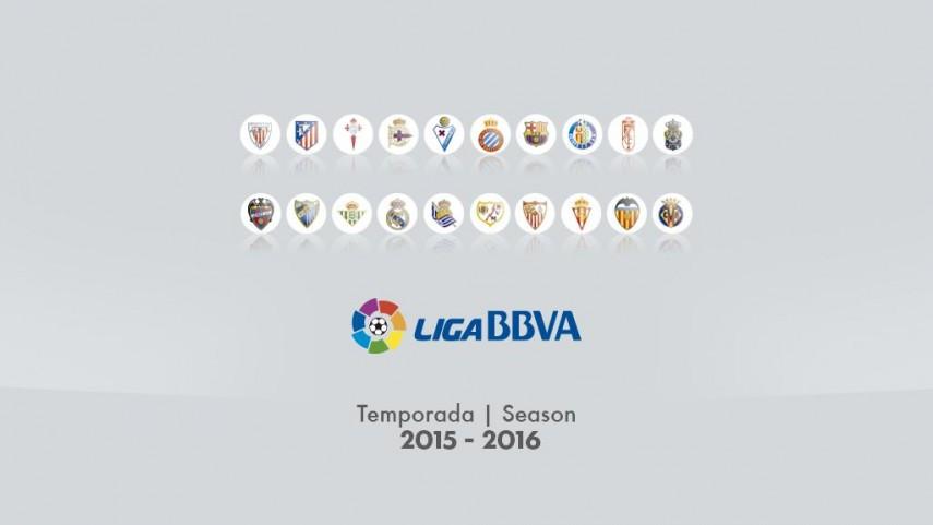 Dorsales oficiales de todos los equipos de la Liga BBVA 2015/16